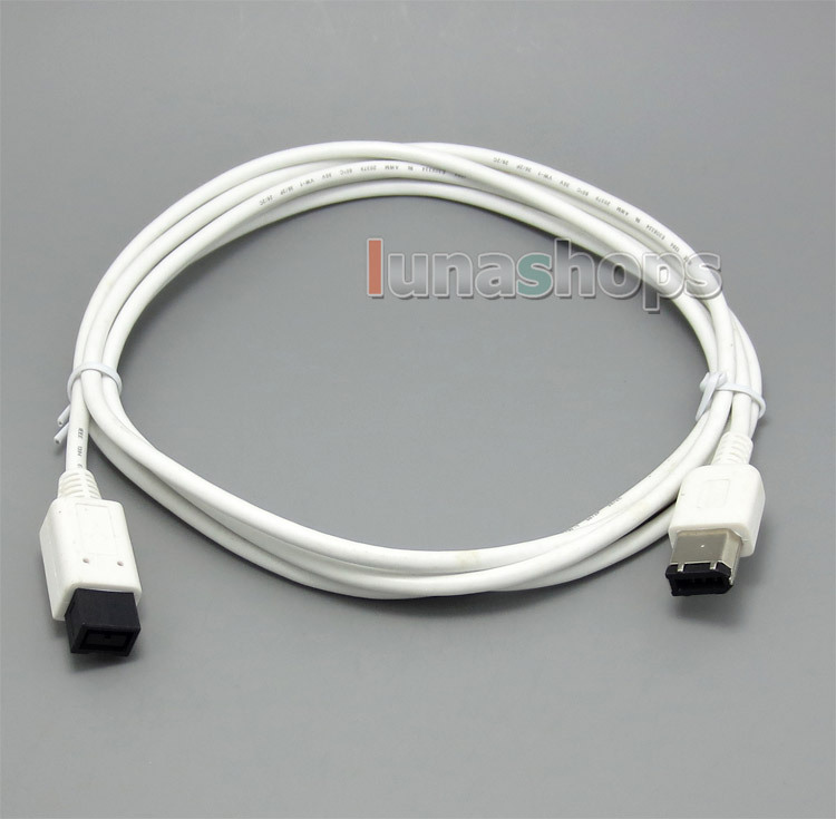 1.8m 9 Pin to 6 6Pin IEEE 1394 B FireWire 800 400 iLink Cord Cable(China (Mainland))