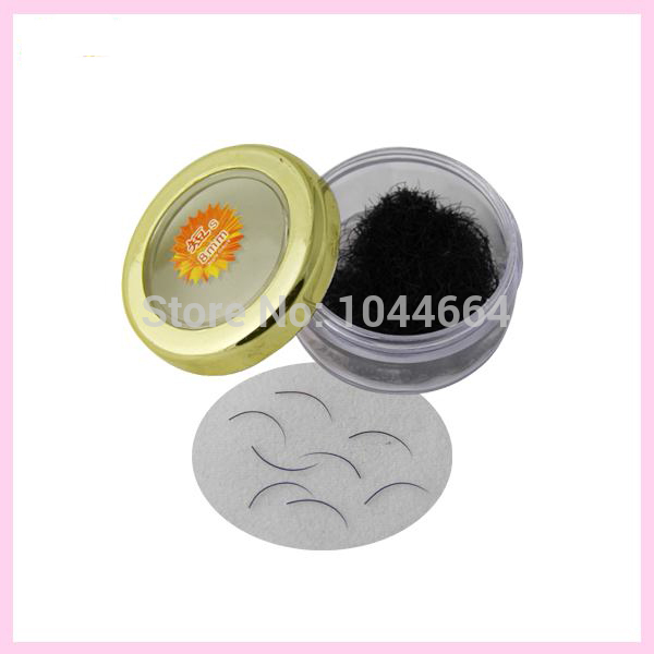 1box Black Individual False Eyelashes Extension Synthetic Hair Loose Bulk Fake Eyelash C curl 0.15mm Thickness 6mm-15mm()