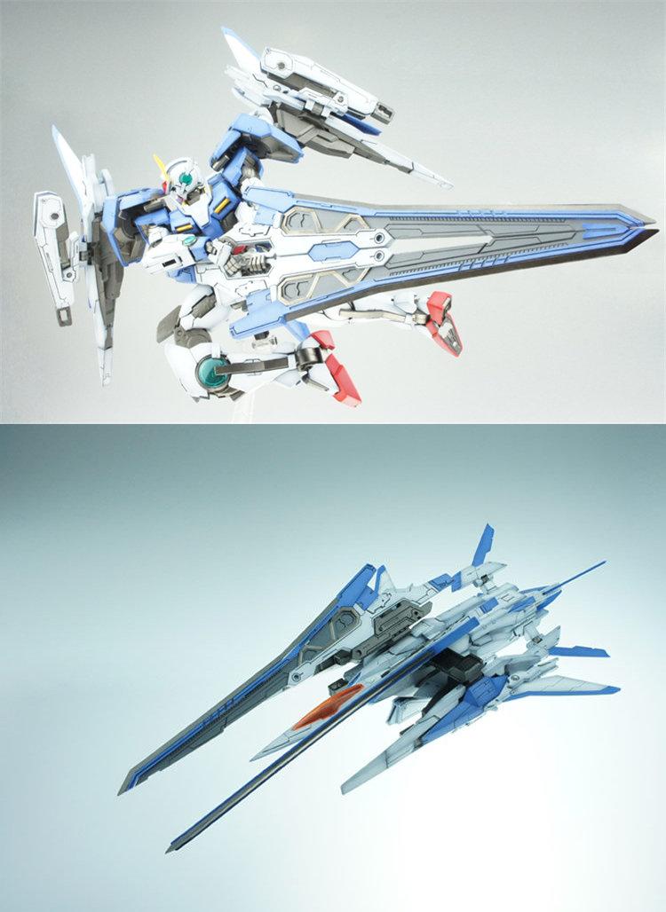 XN Sword with clip modified parts for Bandai 1/100 MG 00 Gundam Seven Sword(China (Mainland))