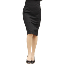 Hot Sale Sexy Office Knee Length Solid Color Women Skirt Over Hip Back Split Placketing Female Pencil Skirts