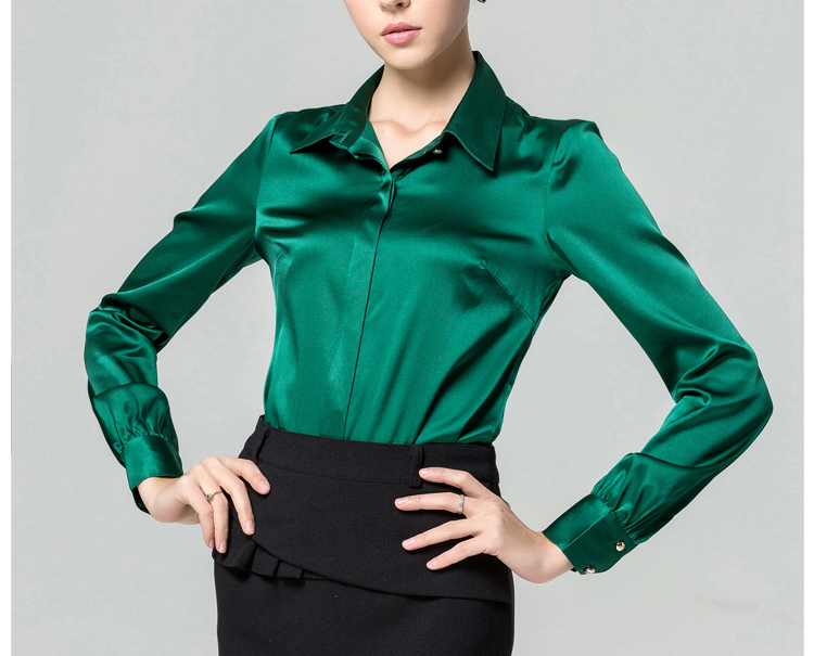 Ladies Silk Blouses Shirts 100