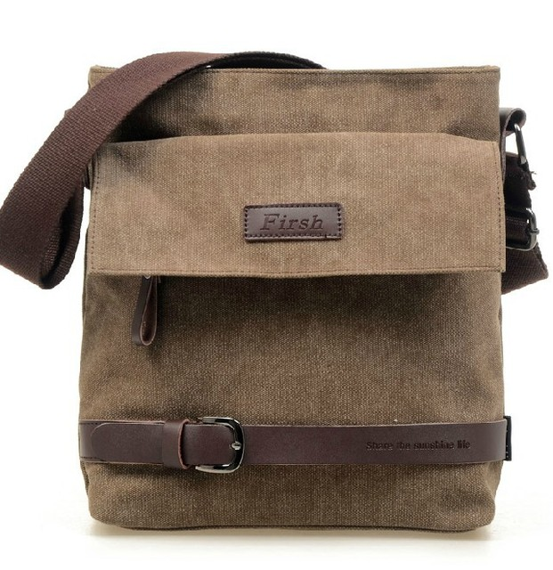 canvas and genuine leather bag for man men's shoulder messenger travel outdoor sports bags cool fashion boys 2013 hot sale 40