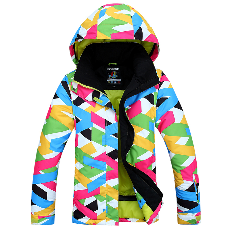 2015 High Quality Colorful Match Women Ski Jacket Brand Designer Snowboard Waterproof Windproof Jackets Waterproof Clothes(China (Mainland))