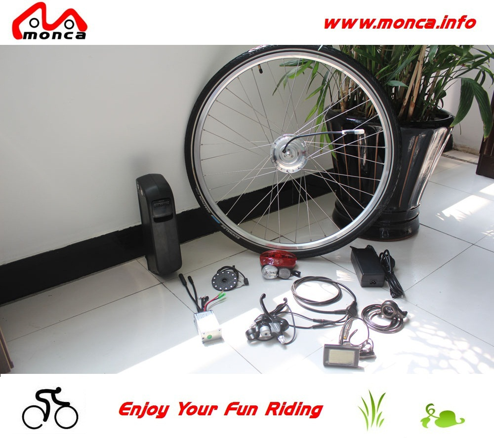 26 Inch Wheel and 300W DC Hub Motor 36V 10A Battery Elektro-Fahrrad DIY Customized Electric Bike Conversion Kits(China (Mainland))