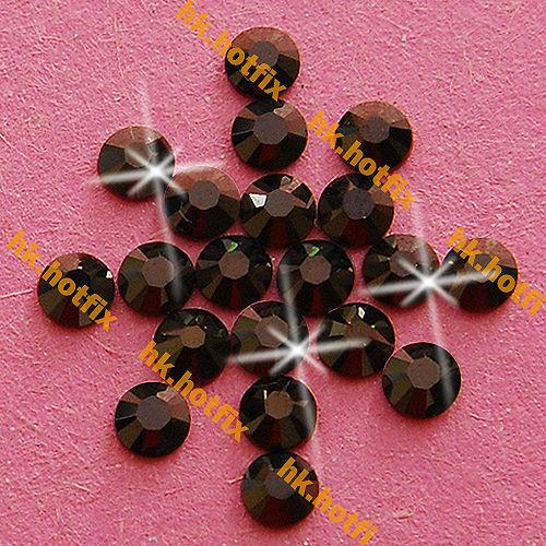 GENUINE Swarovski Elements ss16 Jet Nut ( 121 ) 720 pcs 16ss Iron on   Flatback  Crystal Beads 2038 Hotfix rhinestones