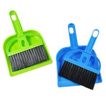 Mini desktop belt dustpan small besmirchers set cleaning brush(China (Mainland))