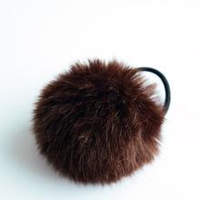 Korean Artificial Rabbit Fur Ball Elastic Hair Ties Bands Rope Ponytail Holders Girls Hair Clip Headband Hair Accessories Gift(China (Mainland))