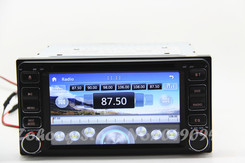 2 Din toyota Universal Hilux Corolla Matrix VIOS Fortuner Camry Car DVD player with GPS Audio Radio Stereo,FM,Bluetooth/TV,Map(China (Mainland))
