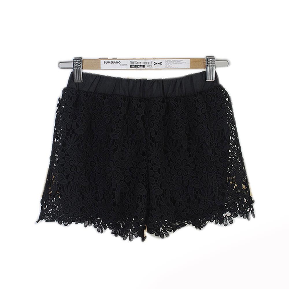 Hot Free Shipping 2015 European Fashion Spring Summer Women Shorts Elastic High Waist Lace Shorts Casual Short Pants WF-8359(China (Mainland))