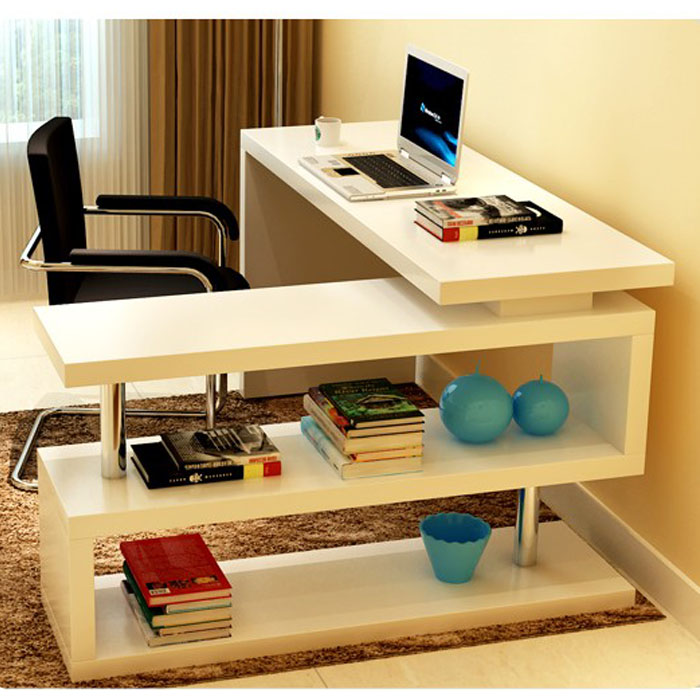 Online buy wholesale rotating bookcase from china rotating - Bureau ordinateur en coin ...