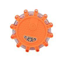 12 светодио дный LED аварийная безопасность вспышка Красная дорога вспышка магнит мигаПредупреждение ночные огни придорожный диск Маяк для а...(China)