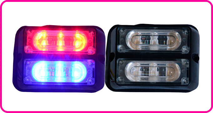 Free shipping!High quality DC12V,6W Led strobe lightheads,emergency lights,grill warning lights,18 flash waterproof