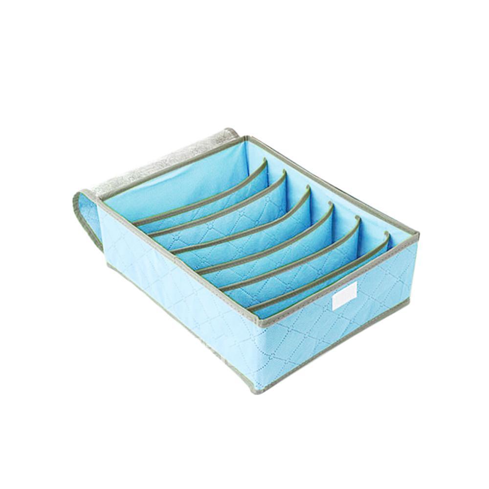 Floding Non-woven fabric 7 cell Underwear Bra Socks Ties Divider Closet Organizer Storage Box 3 Color household - BoBo V5 store