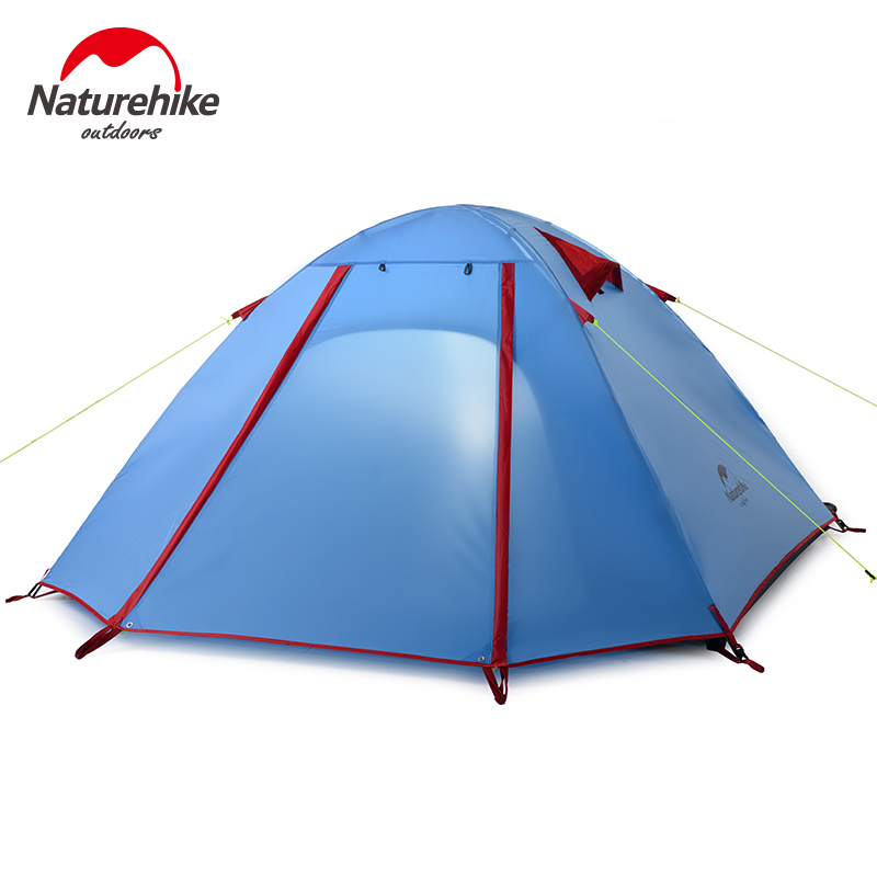 NatureHike Winter Tent 3 persons Aluminum Pole Double Layer Windproof Professional Outdoor Camping Tent 210*160*115cm 4 Color(China (Mainland))