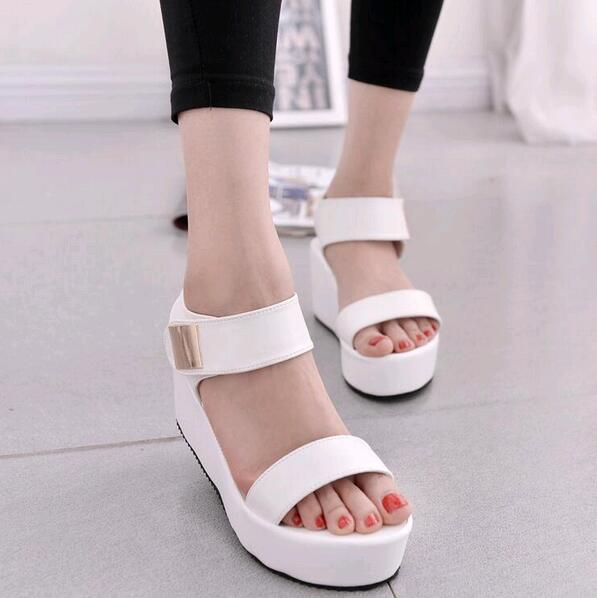 2016 new women wedges sandals women's platform sandals fashion summer shoes women casual shoes free shipping(China (Mainland))