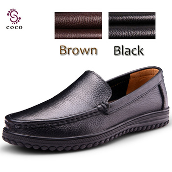 2015 Brand Full genuine leather shoes men Handcrafted black men flats shoes Dress shoes Soft, breathable, comfortable