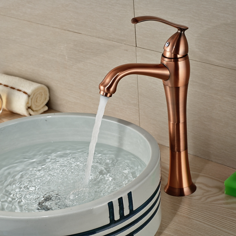 Wholesale And Retail Solid Brass Bathroom Faucet Antique Copper Vessel Sink M # Wasbak Vintage_175721