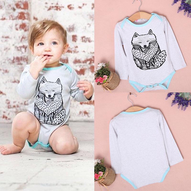 2016 Newborn Toddler Baby Boy Girls Infant Bodysuit