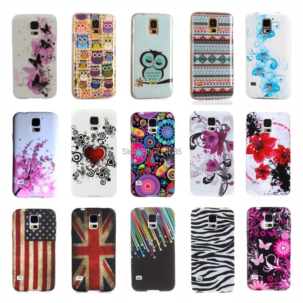 Luxury Quality Indian Style Owl Flag TPU Silicon Phone Case Shell Bag for Samsung GALAXY S5 mini Back Cover Skin S 5 S5mini G800(China (Mainland))