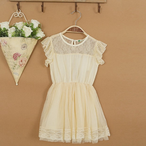 New,girls princess dress,children summer lace dress,sleeveless,beige/green,1-6 yrs,5 pcs / lot,wholesale kids clothing,0795<br><br>Aliexpress