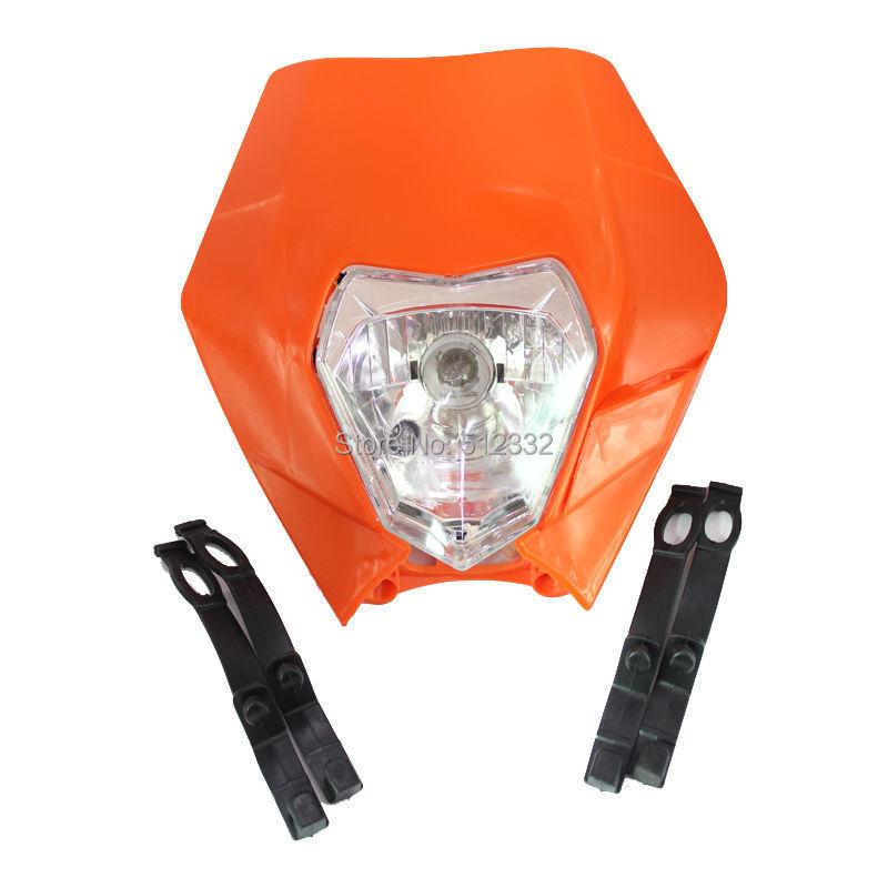 Hot sale Universal Motorcycle Headlight Head Light Fairing Street fighter Enduro Cross Drop(China (Mainland))