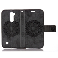 Datura Flower Magnetic Leather Stand Case For LG K8 Capa For LG K8 Carcasa Flip Wallet Cover Protector Shell Phone Bag Cases