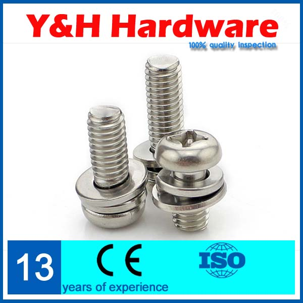 Round three combinations screw m4*25 50PCS Phillips pan head screw 304 stainless steel<br><br>Aliexpress
