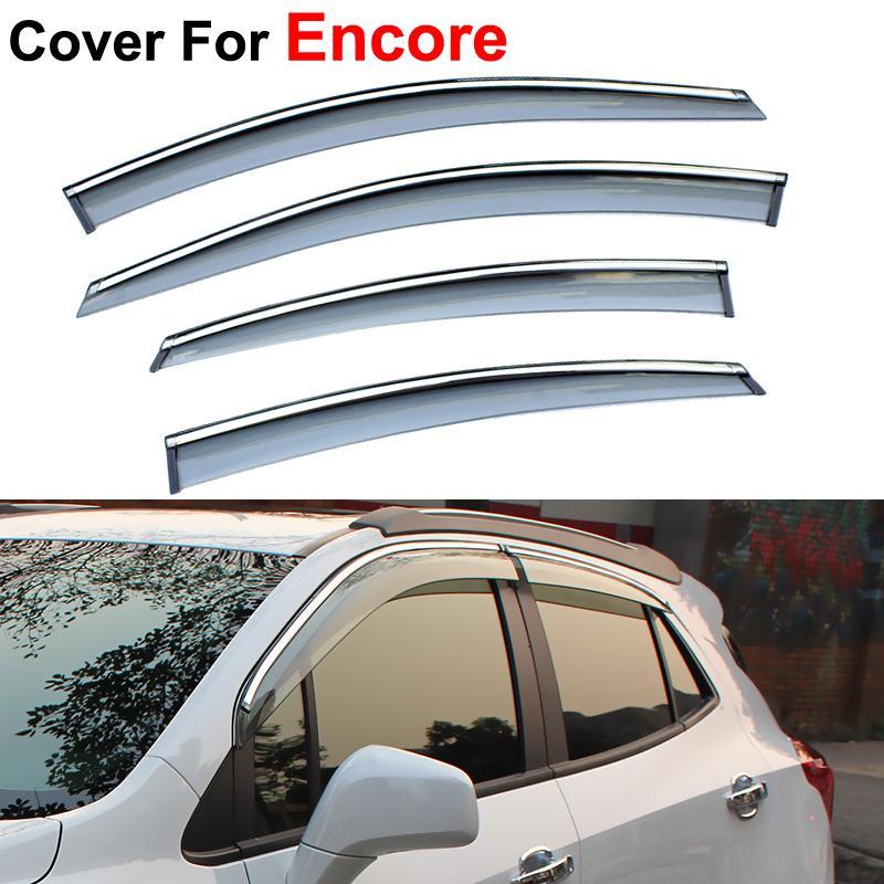 Sun Rain Shield Covers Awnings Shelters Windows Visors Opel Mokka Buick Encore 2012 2013 2014 2015 Car Stylingg - AUTO mechanist store