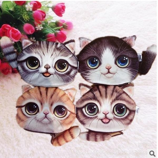 Новый милый кот портмоне дети каваи сумка монет чехол детские кошельки держатель ...