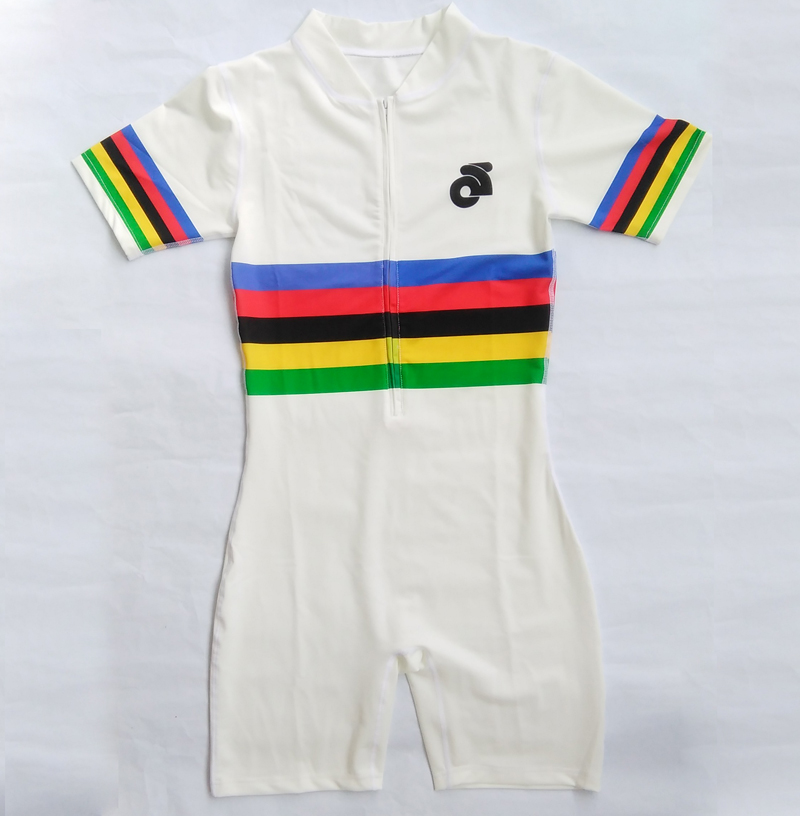 Man Rainbow Track Field Fast Running One Piece Suit Professional Athlete Leotard 4*100 Fast Speed Running Outfit Custom Service(China (Mainland))