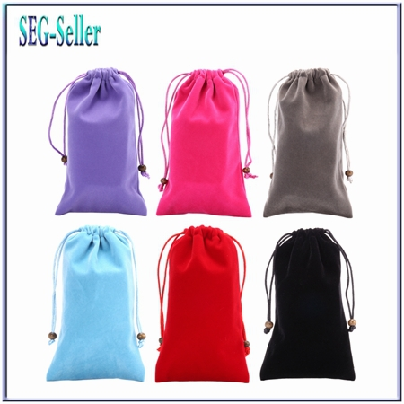 6.3inch New Fashion 8 Colors Universal warm universal Velvet Soft Cloth Pouch Bag Cases For Iphone 6 plus NOTE4.I9200 SJ2051(China (Mainland))