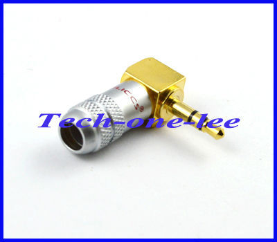 Free shipping 10pcs/lot 3.5mm plug Audio cable connector male right angle stereo adapter