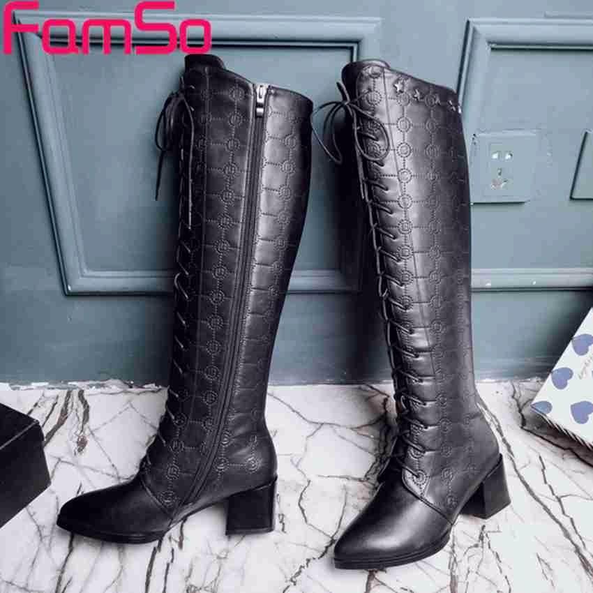 ซื้อ ขนาดบวก34-43 2016ใหม่คลาสสิกผู้หญิงบู๊ทส์สีน้ำตาลสีดำฤดูใบไม้ร่วงรองเท้าหนังแท้ฤดูหนาวรองเท้าหิมะกันน้ำSBT4174