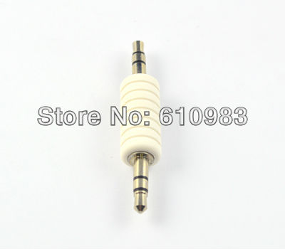 10pcs/lot 3.5mm audio dual track adapter 3.5mm male plug to 3.5mm male plug straight connector adapter Free shipping<br><br>Aliexpress