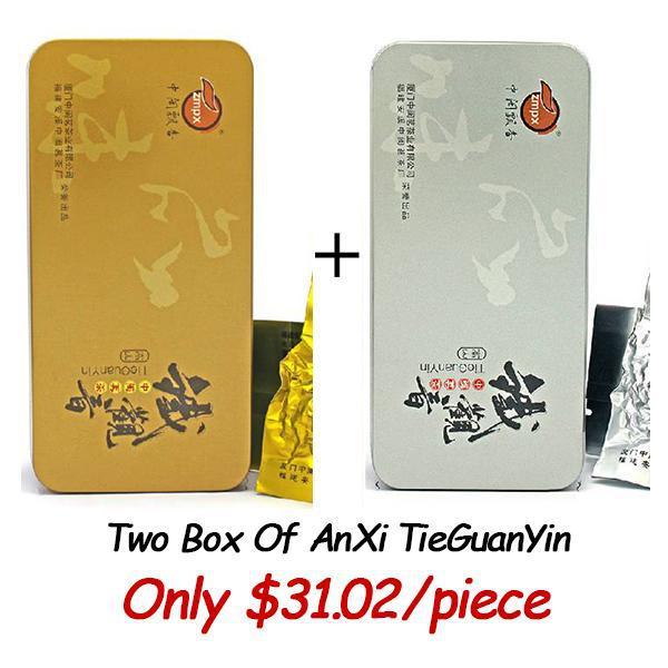 [UncleDragon] Two Boxes Of TieGuanYin Premium Organic Fujian Anxi Tie Guan Yin Oolong Wulong Tea AAAAA Burn Stomach Fat Tea(China (Mainland))