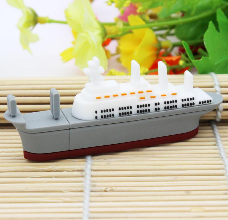 warship usb flash drive gift ship model pen drive 4gb 8gb 16gb 32gb 64gb steamship pen drive flash usb pendrive memory stick(China (Mainland))