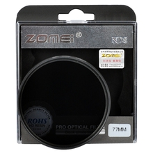 ZOMEI 37/52/55/58/62/67/72/77/82mm Neutral Density filter ND2 ND4 ND8 for Canon Nikon Sony Pentax camera