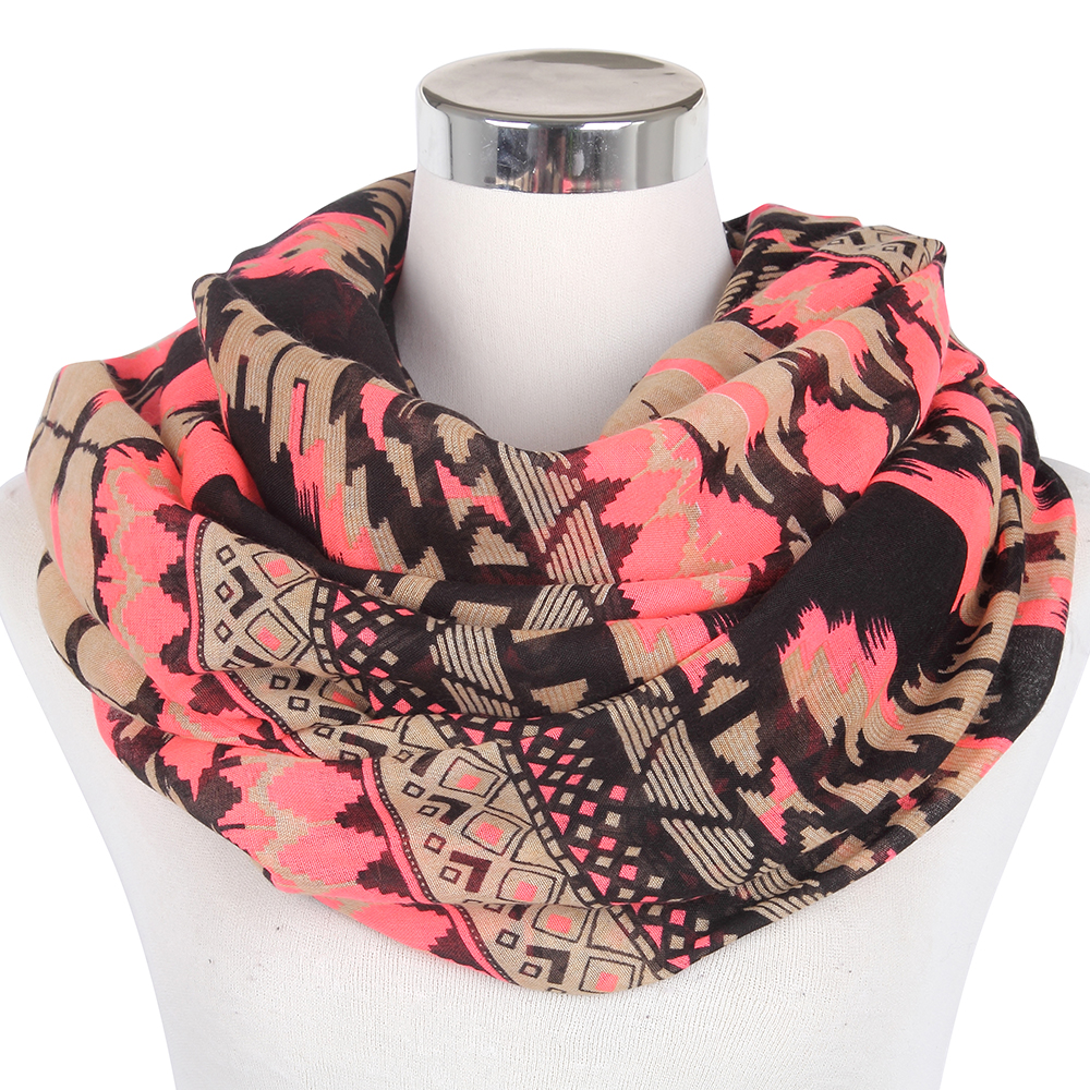2016 New Fashion Brand Winter Geometric Tribal Aztec Infinity Scarf Loop Snood Women/Ladies - Yiwu Accessories store