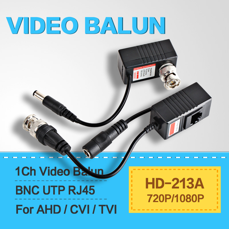Video Power Transceiver Balun HDCVI/TVI/AHD Camera BNC UTP RJ45 With Video And Power Over CAT5/5E/6 Cable For High Definition(China (Mainland))