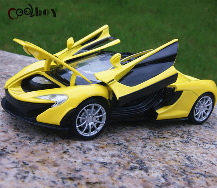 Collectible Car Models 1:32 Yellow McLaren P1 Alloy Diecast Car Model Toy Vehicles Electronic Car With Light&Sound Gift for Kids(China (Mainland))