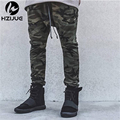 HZIJUE KANYE high quality mens bottom pants camo camouflage hip hop trousers swag sweatpants brand clothing