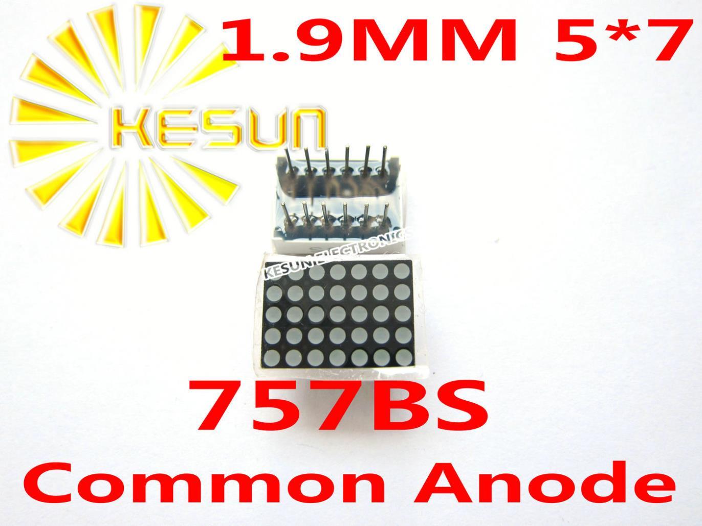LIVRAISON GRATUITE 20 PCS/LOT 1.9 MM 5X7 Rouge Anode Commune LED Dot Matrix Numérique Module 757bs(China (Mainland))