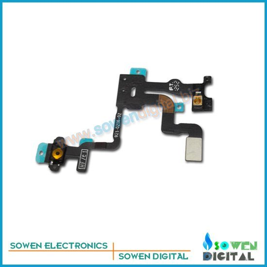 Power volume switch flex cable for iphone 4s on/off flex , 100 % original guarantee ,free shipping