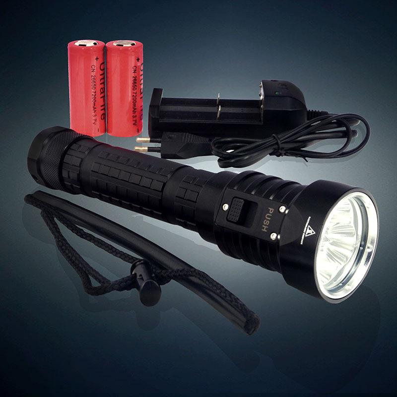 Здесь можно купить  New SolarStorm DX4S 6000Lm 4x XM-L L2 LED Waterproof Scuba Diving Flashlight Torch Lamp+2X26650 Battery + Charger  Свет и освещение