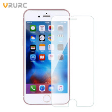 Vrurc Tempered Glass Screen Protector for iPhone 7 7 plus 6 6s Plus 5 5s 5c SE 4 4s protective guard film front case cover(China (Mainland))