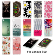 For Lenovo S90 Case Cartoon Painting Soft TPU Gel Case Cover for Lenovo S90 S90u 5.0 inch Phone Bags Silicon Skin Covers Cases