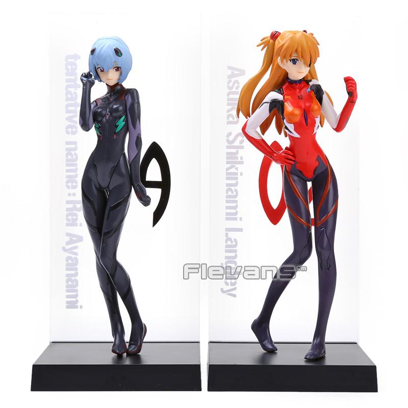 2pcs/set EVA Neon Genesis Evangelion Ayanami Rei & Soryu Asuka Langley PVC Action Figure Collectible Model Toy(China (Mainland))