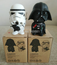 New 10cm one pcs Q Style Star War Darth Vader & STORM TROOPER Action Figure Model Toy Come with Retail Box free shipping