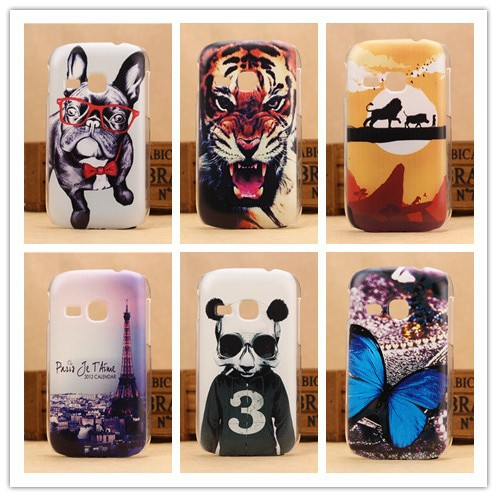 Hot 6 Pattern Cover Hard Case Samsung Galaxy Young Duos S6310 S6312 Mobile Phone Covers Back Cases PY - SGP Hybrid Official Store store