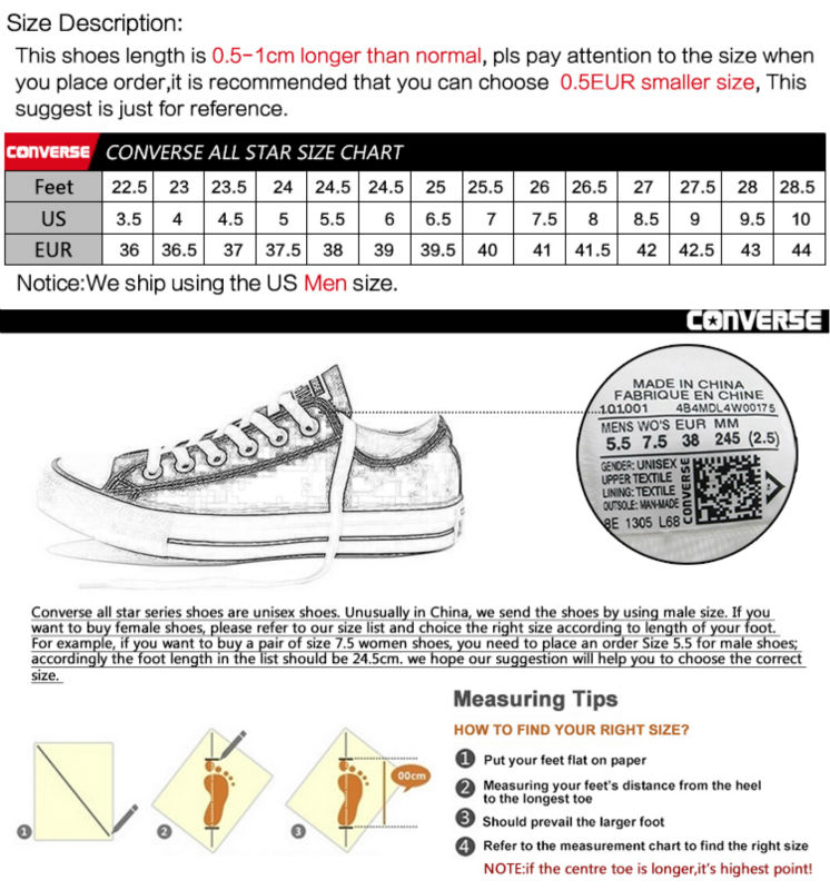 Detail Feedback Questions About Original New Arrival Converse All